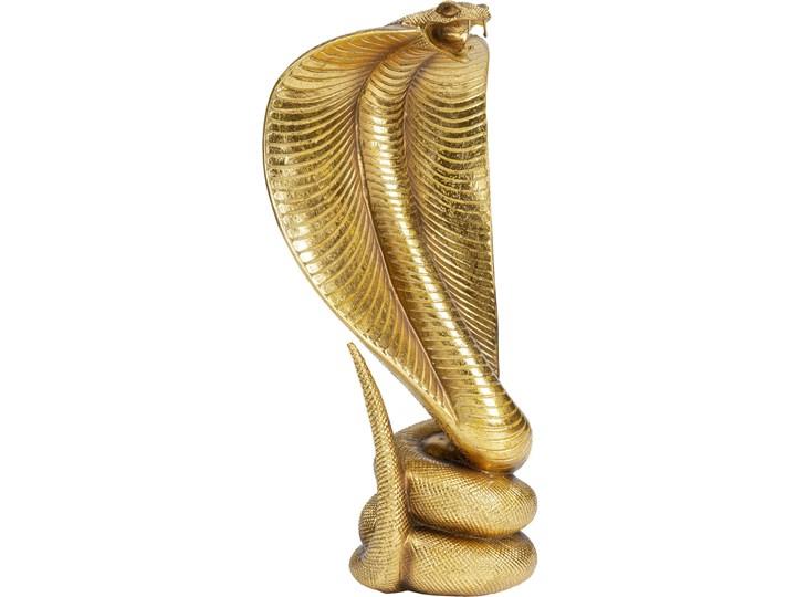 Figurka dekoracyjna Cobra 23x42 cm złota Kolor Beżowy