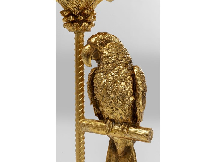 Dekoracja stojąca Parrot On Palm Tree 97 cm złota Kategoria Figury i rzeźby