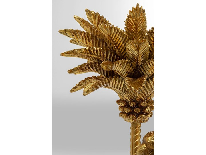 Dekoracja stojąca Parrot On Palm Tree 97 cm złota Kolor Biały Kategoria Figury i rzeźby