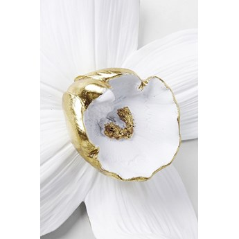 Dekoracja ścienna Orchid 24x25 cm biała
