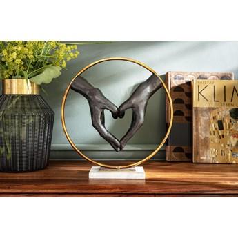 Figurka dekoracyjna Elements Heart Hand 32x34 cm fioletowo-złota