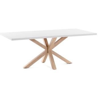 Stół Arya 200x100 cm biało-brązowy