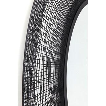 Lustro wiszące Mesh Ø100 cm czarne