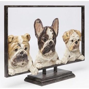 Figurka dekoracyjna Dogs with Frame 63x45 cm