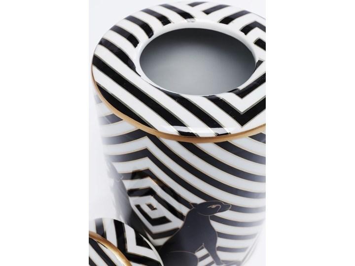 Słoik dekoracyjny Panther Ø15x25 cm czarno-biały Typ Słoiki Kolor Czarny