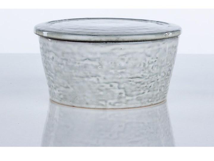 Pojemnik z pokrywką Rustic 14x7 cm szaroniebieski Żaroodporny Ceramika Kategoria Pojemniki i puszki