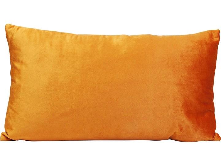 Poduszka dekoracyjna Classy Rings 50x28 cm pomarańczowa Aksamit 28x50 cm Poszewka dekoracyjna Prostokątne Poliester Kategoria Poduszki i poszewki dekoracyjne