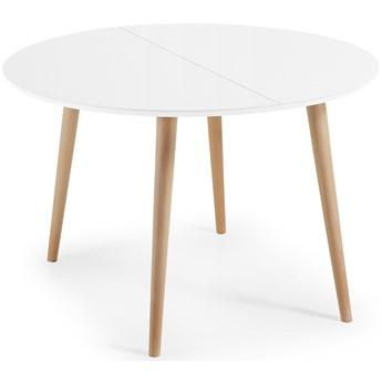 Stół rozkładany Oakland 120-200x120 cm biały