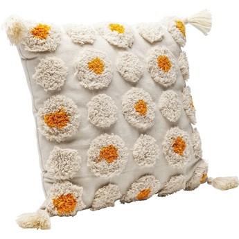 Poduszka dekoracyjna Daisys 45x45 cm biała