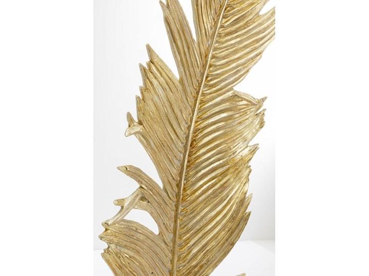 Dekoracja stojąca Feather Two 36x147 cm złota Kategoria Figury i rzeźby Kolor Beżowy