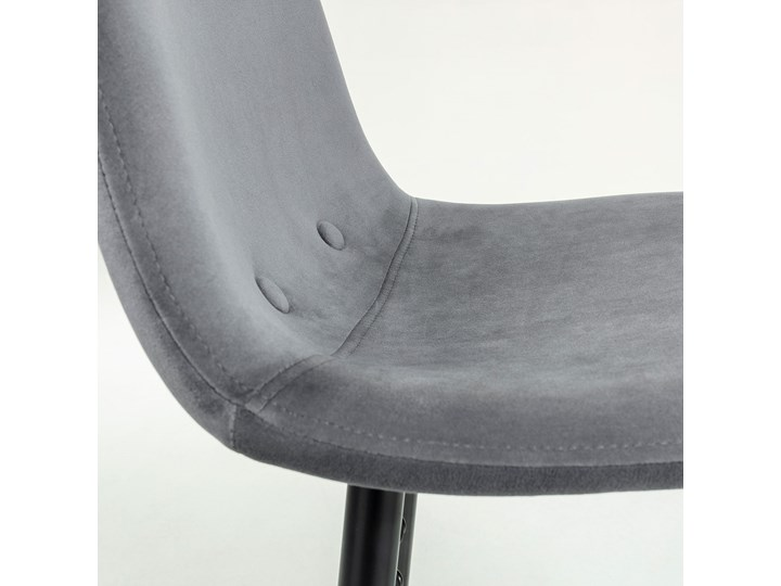 Hoker Nilson 47x101 cm ciemnoszary Pomieszczenie Kuchnia Hoker z oparciem Hoker tapicerowany Kategoria Krzesła kuchenne