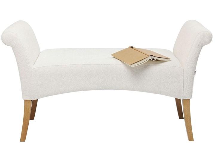 Ławka Motley Hugs 107x62 cm biała Materiał nóżek Drewno Pomieszczenie Przedpokój