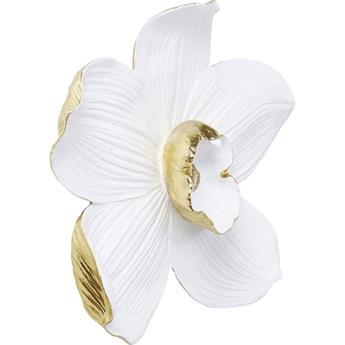 Dekoracja ścienna Orchid 51x54 cm biała