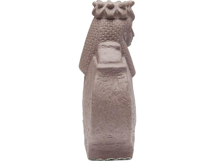 Figurka dekoracyjna Antique Lady 21x26 cm Ceramika Kolor Szary