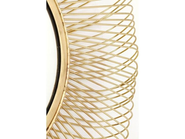 Lustro wiszące El Sol Gold Ø79 cm złote Okrągłe Lustro z ramą Ścienne Kategoria Lustra