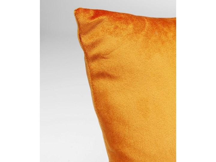 Poduszka dekoracyjna Classy Rings 50x28 cm pomarańczowa 28x50 cm Aksamit Prostokątne Poliester Poszewka dekoracyjna Kategoria Poduszki i poszewki dekoracyjne