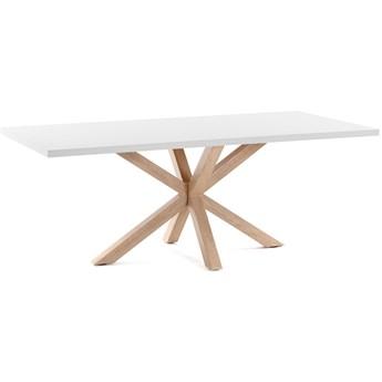 Stół Arya 160x100 cm biały nogi drewniane