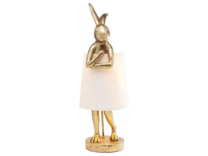 Lampa stołowa Animal Rabbit 23x68 cm złota Kolor Złoty Kategoria Lampy stołowe