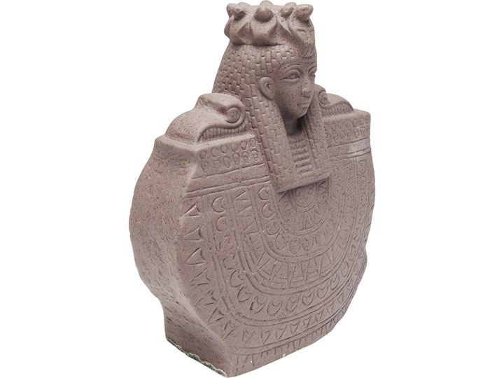 Figurka dekoracyjna Antique Lady 21x26 cm Ceramika Kolor Szary Kategoria Figury i rzeźby