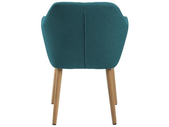 Krzesło Emilia 57x83 cm petrol nogi drewniane Wysokość 66 cm Wysokość 57 cm Głębokość 61 cm Tkanina Głębokość 23 cm Tapicerowane Z podłokietnikiem Drewno Styl Skandynawski
