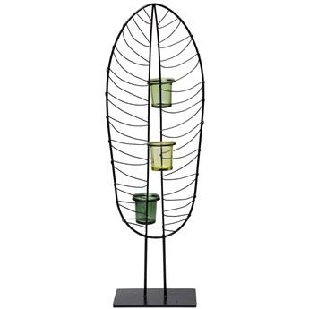 Świecznik Leaf Wire 21x67 cm czarny