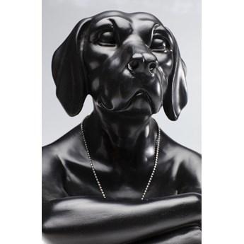 Figurka dekoracyjna Gangster Dog 26x33 cm czarna