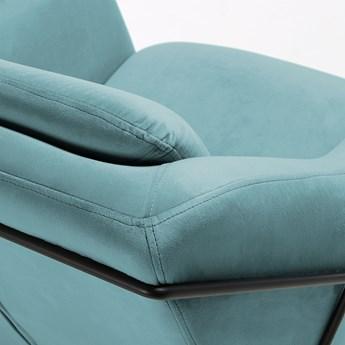 Fotel Brida 65x82 cm zielony aksamit