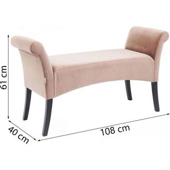 Ławka Motley Velvet 110x61 cm różowa