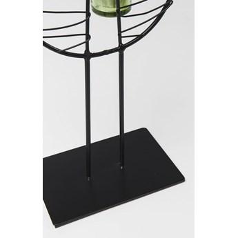 Świecznik Leaf Wire 23x86 cm czarny