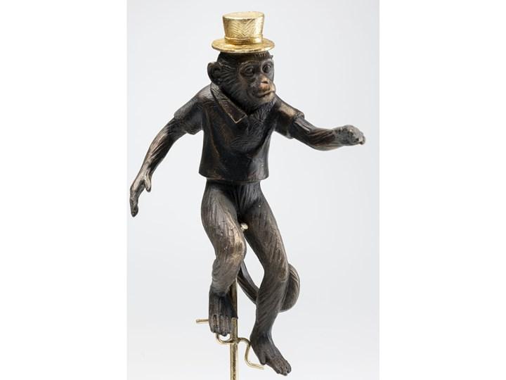 Figurka dekoracyjna Circus Monkey 14x48 cm złota Metal Marmur Tworzywo sztuczne Kategoria Figury i rzeźby Kolor Złoty