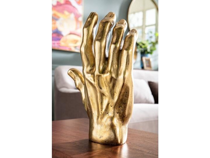 Figurka dekoracyjna Mano 23x35 cm złota Kolor Brązowy