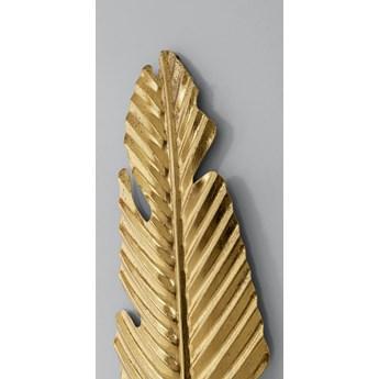Dekoracja ścienna Leaf 26x92 cm złota