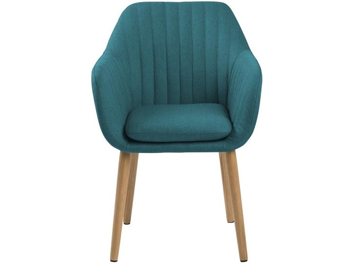 Krzesło Emilia 57x83 cm petrol nogi drewniane Pomieszczenie Jadalnia Tkanina Wysokość 57 cm Głębokość 61 cm Wysokość 66 cm Z podłokietnikiem Głębokość 23 cm Tapicerowane Drewno Styl Vintage