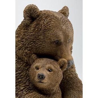 Figurka dekoracyjna Cuddle Bear Family 30x26 cm brązowa