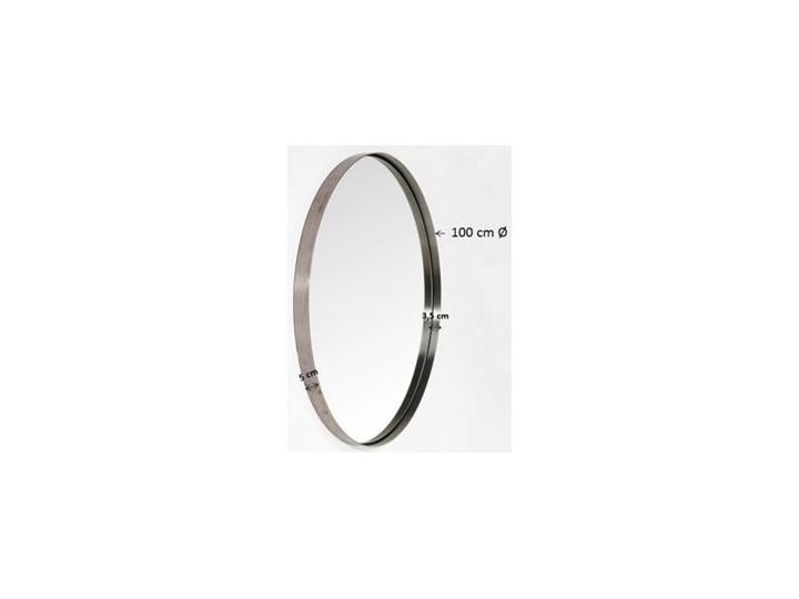 Lustro wiszące Curve Round ∅100 cm mosiężne Styl Vintage Okrągłe Ścienne Lustro z ramą Styl Glamour