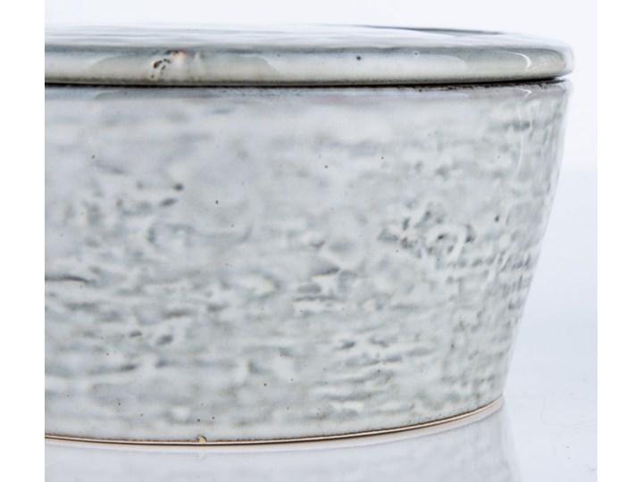 Pojemnik z pokrywką Rustic 14x7 cm szaroniebieski Ceramika Żaroodporny Kategoria Pojemniki i puszki Typ Pojemniki