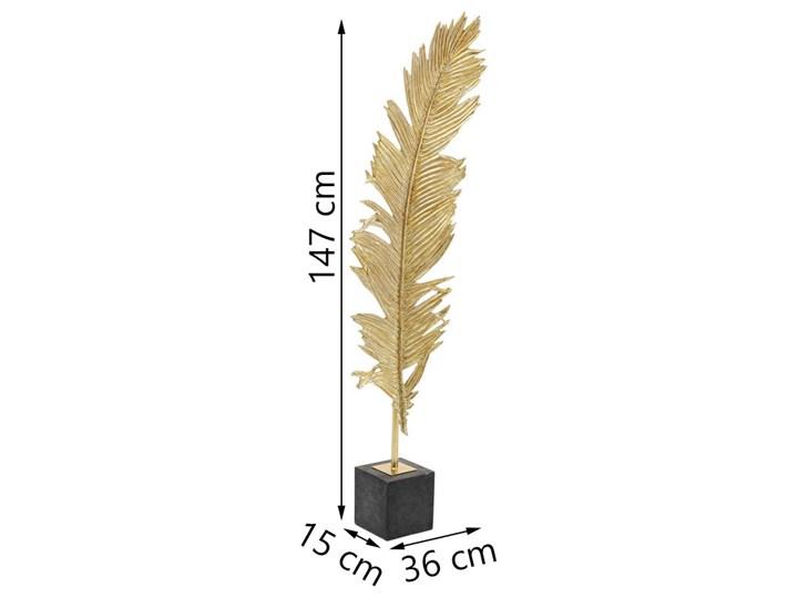 Dekoracja stojąca Feather Two 36x147 cm złota Kategoria Figury i rzeźby