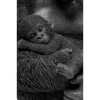 Figurka dekoracyjna Cuddle Gorilla Family 33x40 cm czarna