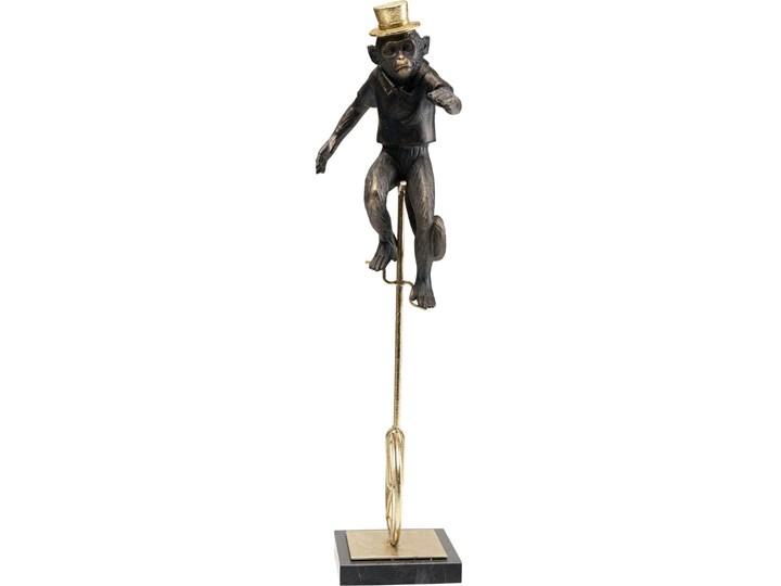 Figurka dekoracyjna Circus Monkey 14x48 cm złota Marmur Metal Tworzywo sztuczne Kategoria Figury i rzeźby