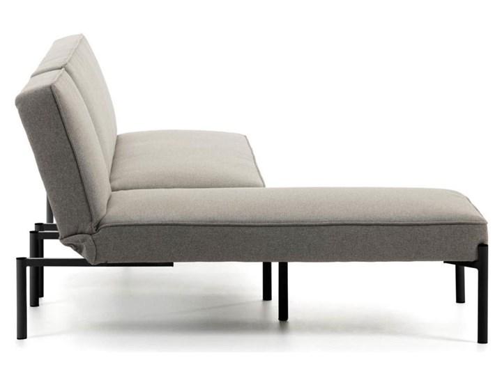 Rozkladana sofa i szezlong Nelki w kolorze szarym Stała konstrukcja Funkcje Bez dodatkowych funkcji