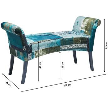 Ławka Motley Blue Hour 110x61 cm