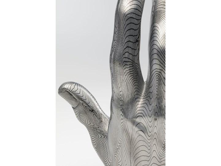 Figurka dekoracyjna Hand 25x36 cm szara Kolor Szary Kategoria Figury i rzeźby
