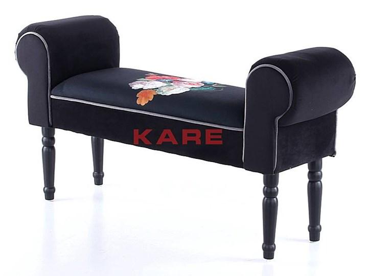 Ławka Wing Blossom 100x54 cm czarna Kategoria Ławki do salonu Styl Glamour