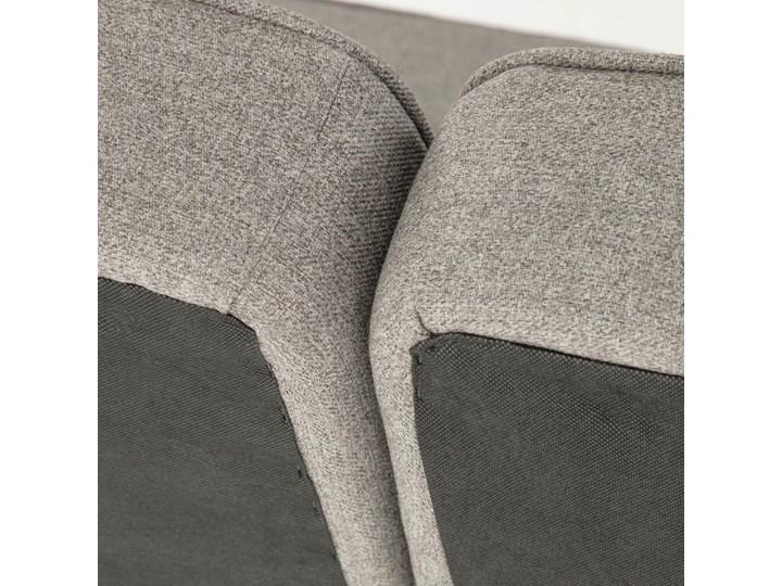 Rozkladana sofa i szezlong Nelki w kolorze szarym Stała konstrukcja Styl Minimalistyczny