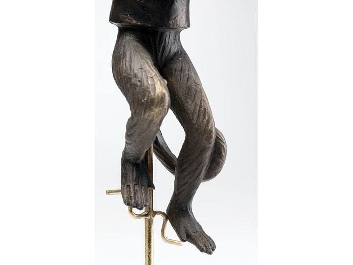 Figurka dekoracyjna Circus Monkey 14x48 cm złota Metal Marmur Tworzywo sztuczne Kategoria Figury i rzeźby