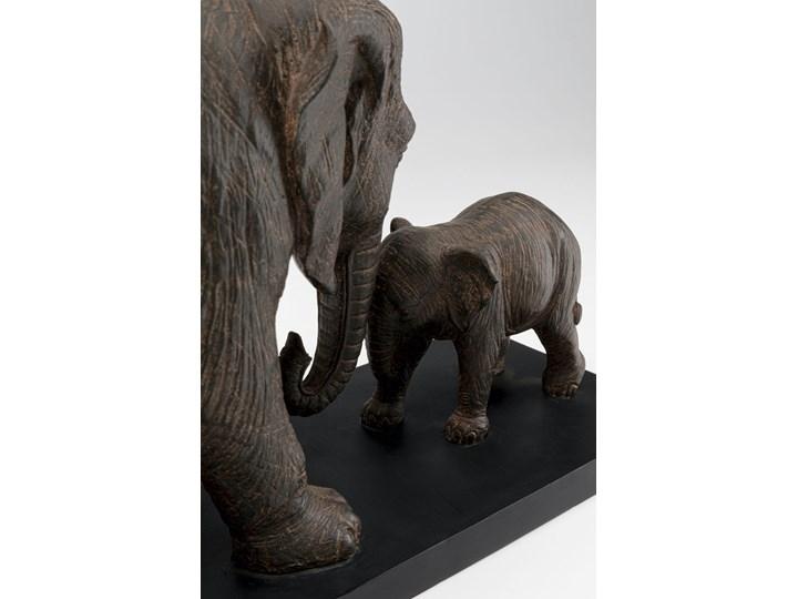 Figurka dekoracyjna Elephant Family 58x31 cm brązowa Kategoria Figury i rzeźby