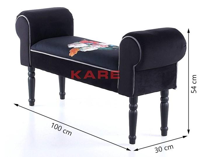 Ławka Wing Blossom 100x54 cm czarna Pomieszczenie Salon