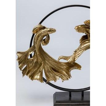 Figurka dekoracyjna Dancing Betta Fishes 58x65 cm złota