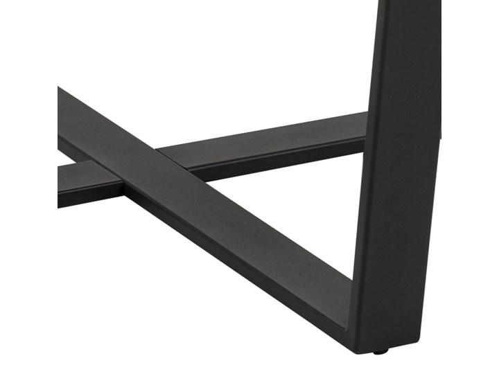 Stół Hagley Ø110 cm brązowy Marmur Drewno Metal Wysokość 75 cm Rozkładanie Szerokość 75 cm Styl Nowoczesny