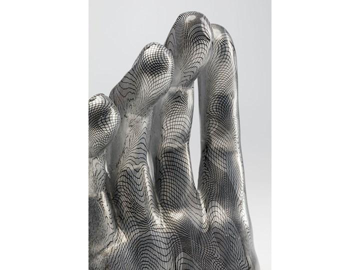 Figurka dekoracyjna Hand 25x36 cm szara Kategoria Figury i rzeźby Kolor Szary